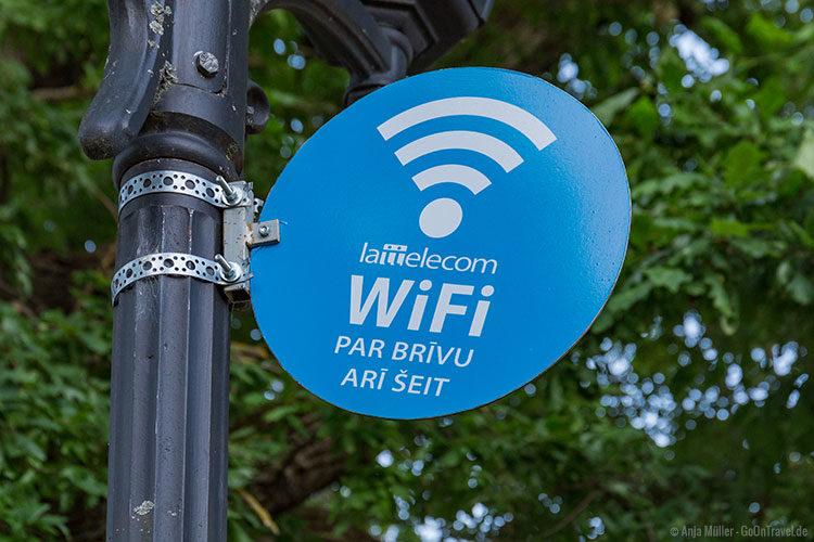 An vielen Orten in Riga gibt es kostenfreies Wlan.